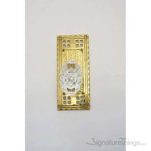 Arts & Crafts Savannah Fluted Crystal Door Knob - Polished Brass
