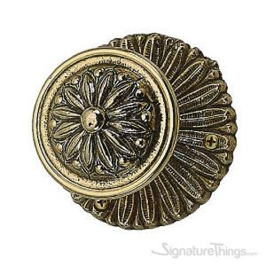 Helios Door Knob with Rosette - Polished Brass