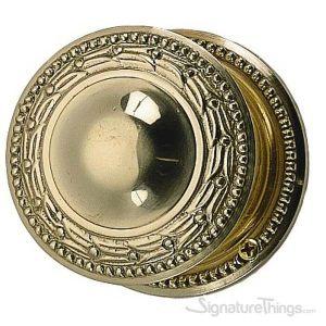 Laurel Door Knob with Rosette - Polished Brass