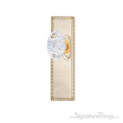 "EGG & DART 8-3/8"" Georgetown Oval Crystal Door Knob - Polished Brass"