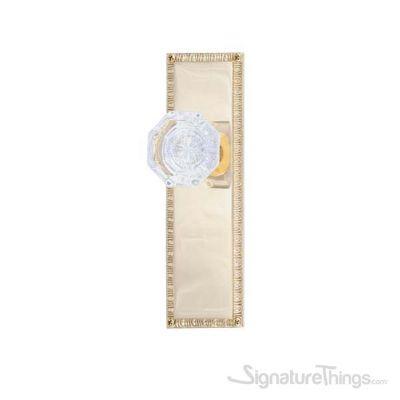 """EGG & DART 8-3/8"""" Hartford Door Knob - Polished Brass"""