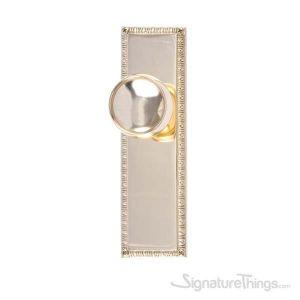 "EGG & DART 8-3/8"" Manhattan Door Knob - Polished Brass"