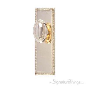 "EGG & DART 8-3/8"" Revere Door Knob - Polished Brass"