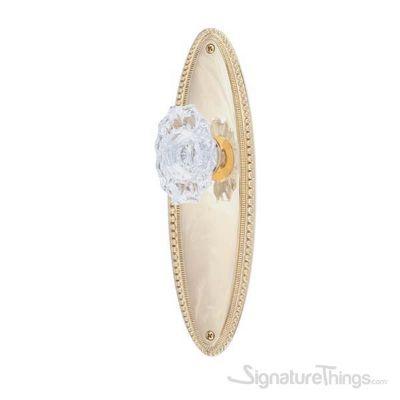 Revere Savannah Fluted Crystal Door Knob - Polished Brass