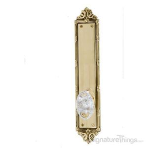 Ribbon & Reed Georgetown Oval Crystal Door Knob - Polished Brass