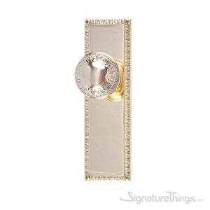 "EGG & DART 8-3/8"" Door Knob - Polished Brass"