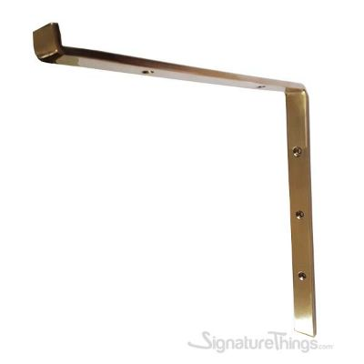 Standard Rounded L Bracket - Polished Brass Un-Lacquered