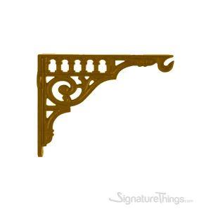 GRECO Cast Brass - Shelf Bracket with Plant Hanger