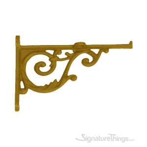 Dulcet Cast Brass Shelf Bracket