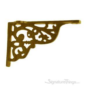 Victorian Gothic Brass Shelf Bracket