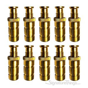 Pool Cover Brass Anchors for Concrete and Pavers Deck -  10 Pack