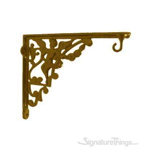 Angel Cast Brass Shelf Bracket