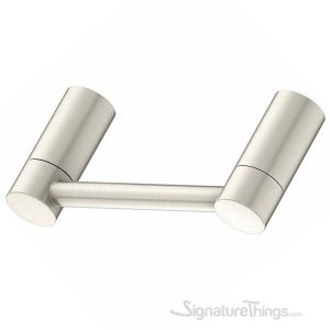 Elegant Collection Pivot Toilet Paper Holder for Bathroom, Wall Mount Toilet Roll Dispenser - Satin Nickel Finish