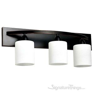 Vanity Bath Light Bar Interior Lighting Fixture (Oil Rubbed Bronze, 3 Lights)