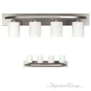 Modern Vanity Light Fixture Bath Interior Lighting 4 - Lights - Brushed Nickel Finish