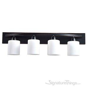 Vanity Bath Light Bar Interior Lighting Fixture (Oil Rubbed Bronze, 4 Lights)