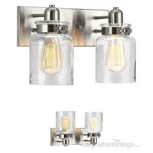 Vintage Collection Bathroom Vanity Light Fixture - Bath Interior Lighting (Brushed Nickel, 2 - Lights)