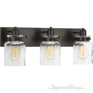 Vintage Collection  Bathroom Vanity Light Fixture - Bath Interior Lighting (Antique Bronze, 3 - Lights)