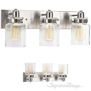 Vintage Collection  Bathroom Vanity Light Fixture - Bath Interior Lighting (Brushed Nickel, 3 - Lights)