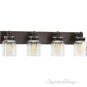 Vintage Collection Bathroom Vanity Light Fixture - Bath Interior Lighting (Antique Bronze, 4 - Lights)