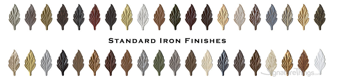 Standard Iron Finishes