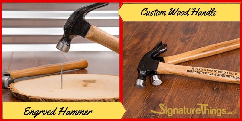 Personalized Engraved Hammer, Custom Wood Handles, Father's Day Gifts Ideas