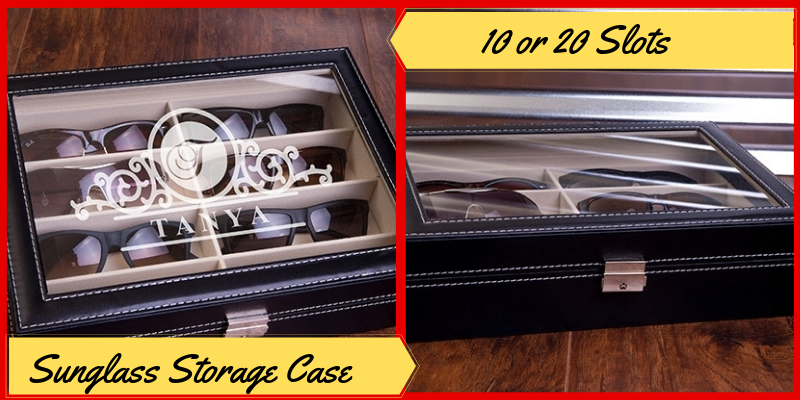 Personalized Sunglass Storage Case, Father's Day Gifts Ideas
