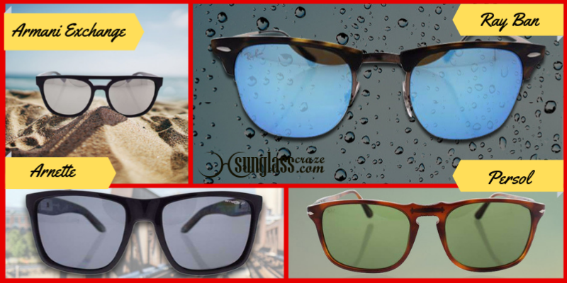 Sunglasses For Men, Top Brands Eyewear like Ray Ban, Armani Exchange, Persol, Arnette, Father's Day Gifts Ideas