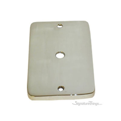 Modern Rounded Corners Dimmer - Single gang cable outlet cover plate