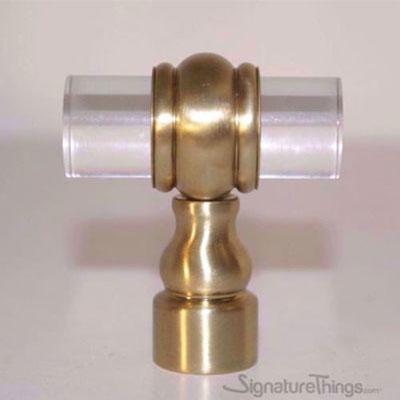 3/4 Inch D CLASSIC BARREL RING LUCITE PULLS