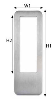 Sly Sliding Flush Pull for Glass Door